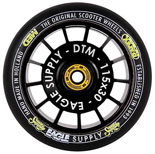 Eagle Supply Rueda para Scooter Individual Radix DTM Hollowtech 90A - 115Mm Negr (Default, Negro)