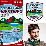 Club of Heroes Westweg Schwarzwald Set / 1 Abzeichen + 1 Multifunktionstuch/Bandana Tuch Schal Halstuch Mundschutz + Patch Aufnäher Aufbügler/Pforzheim Basel Wanderweg Wanderführer Reiseführer