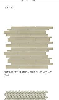 "Bliss Element Earth 12"" x 13.7"" Glass Mosaic"