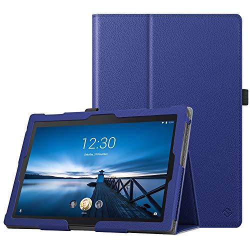 Fintie Case voor Lenovo Tab E10 / Lenovo Tab4 10 / 10Plus - Folio-beschermhoes van synthetisch leer met standaardfunctie voor Lenovo Tab E10 TB-X104F 10.1 inch tablet 2019, Blauw