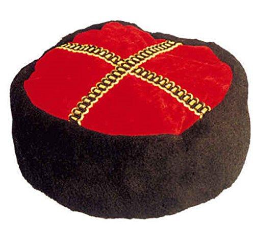 O23258 rot-schwarz Damen Herren Kosakenhut Kosakenmütze