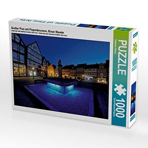 Großer Plan mit Piepenbrunnen, Blaue Stunde 1000 Teile Puzzle quer (CALVENDO Orte)