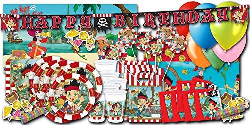 Jake und die Nimmerland Piraten Kindergeburstag Partyset XXL - Partydeko & Partygeschirr im Sparset