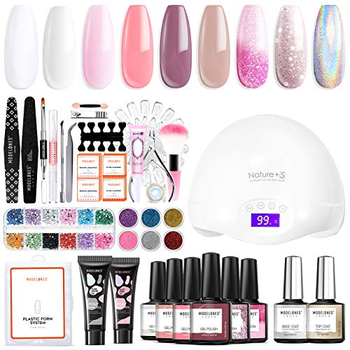 Poly Nail Gel Kit with 48W Led Lamp Gel...