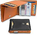 TRAVANDO Geldbörse mit Geldklammer Geldbeutel Männer Helsinki Slim Portemonnaie Wallet Portmonaise Herren Geldtasche
