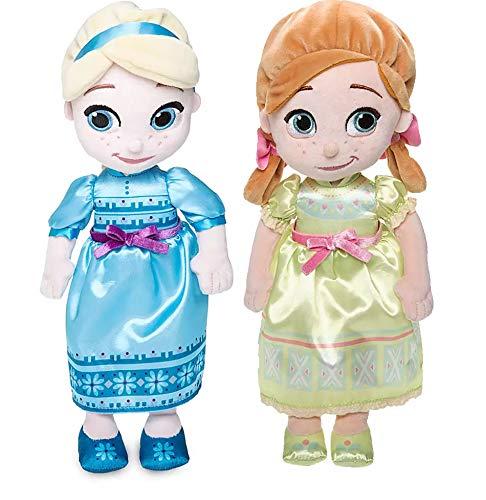 Shop Disney Animators Collection Frozen 2 Elsa and Anna Plush Doll Small  12