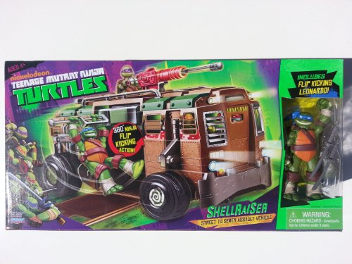Teenage Mutant Ninja Turtles Shellraiser Street to Sewer Assault Vehicle with Bonus Flip Kicking Leonardo