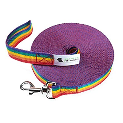 Maximum Pet Products 50ft Rainbow Dog Training Lead