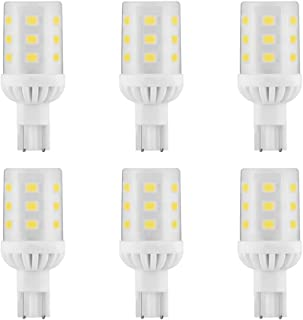 Makergroup T5 T10 Wedge Base LED Light Bulbs 12VAC/DC 3Watt Warm White 2700K-3000K for Outdoor Landscape Lighting Deck Stair Step Path Lights and Automotive RV Travel Tailer Lights 6-Pack