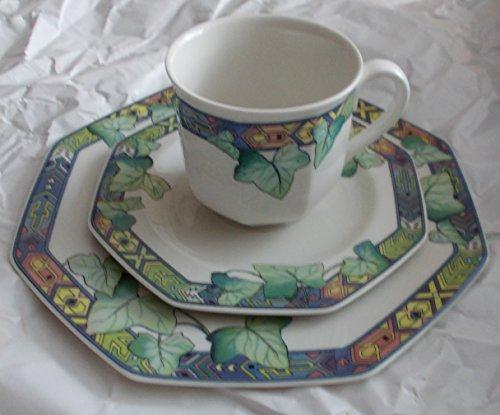 Pasadena Gedeck Kaffeetasse Untertasse und Frühstücksteller