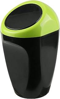 Timorn Auto Mülleimer, Auto müllbehälter Mini mülleimer mit Federabdeckung, Perfekte Passform für die Auto Center Konsole, Lagerung von Münzen, Stift und ändern (Grün)