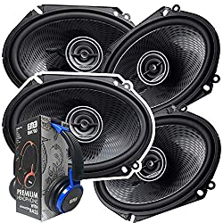 2 Pairs of Kenwood 6x8 360W 2-Way Coaxial Car Audio Speakers