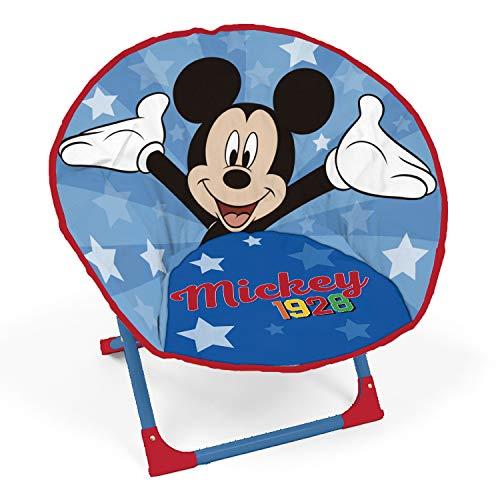 ARDITEX WD13012 Silla con Forma de Luna de 50x50x50cm de Disney-Mickey