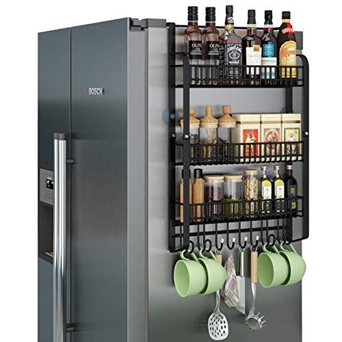 SXFYHXY Soportes Magnéticos para Especias para Refrigerador, Almacenamiento De Especias para Nevera, Estante Magnético para Organizador De Cocina