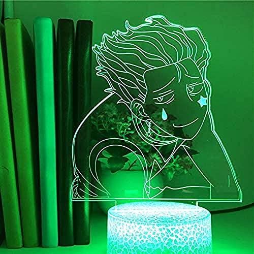 3D LED ilusión lámpara noche luz 16 colores regulable USB Powered Touch regalo para niños con remoto hombre tímido