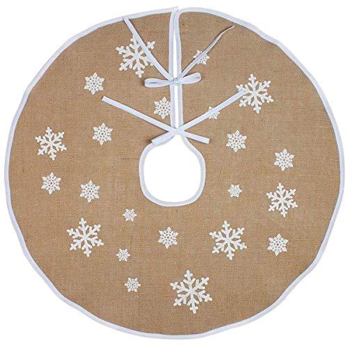 Vohoney Weihnachtsbaum Decke Weihnachtsbaum Rock Weihnachtsbaumdecke Rund Christbaumdecke Weihnachtsbaum Dekor Tannenbaum Decke(Weihnachtsbaumrock Khaki, 122cm)
