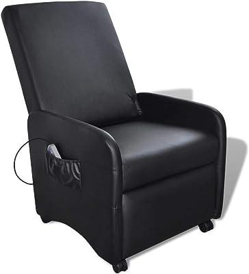vidaXL Fauteuil de Massage massant inclinable et Pliable en