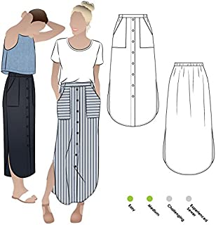 Style Arc Sewing Pattern - Indigo Maxi Skirt (Sizes 18-30) - Click for Other Sizes Available