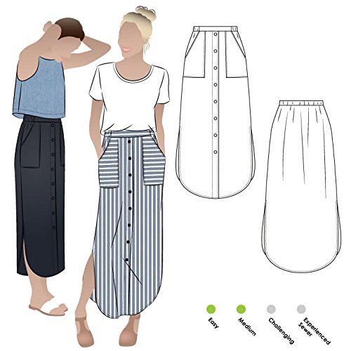 Style Arc Sewing Pattern - Indigo Maxi Skirt (Sizes 04-16) - Click for Other Sizes Available