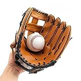 Guantes de béisbol con suave piel sintética sólida para lanzar la mano izquierda HCT24, M:11.5Inches