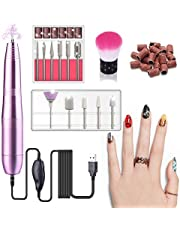 Electric Nail Drill Machine, Portable Manicure Pedicure Drill Kit With 11 Grinder Bits For Gel Nails, Nail Salon and DIY Manicure