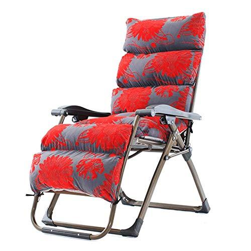 no brand Chaise Longue Chaises Longues, Chaise Zero Gravity Salon extérieur Meubles de Patio avec Coussins Fauteuil Pliant réglable pour Plate-Forme Patio Plage de Jardin
