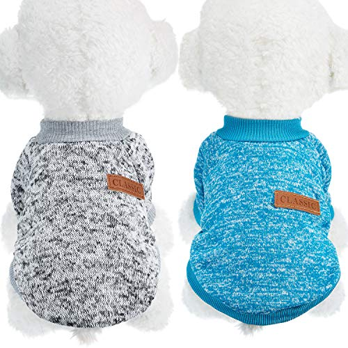 SATINIOR 2 Piezas Ropa de Mascota de Invierno Suéter de Perro Abrigo...