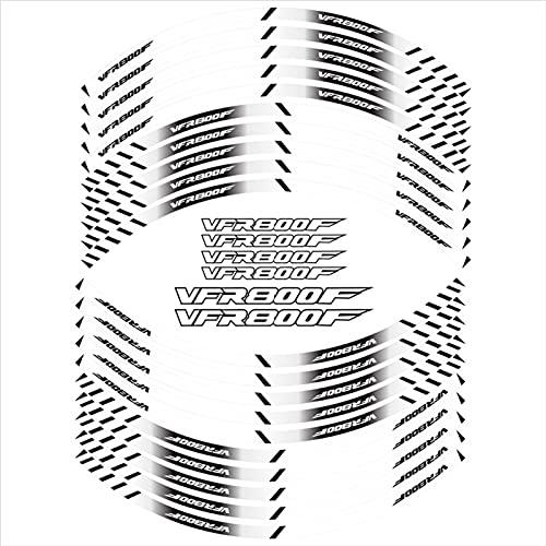 Pegatinas de neumáticos de la Motocicleta Decoración Reflectante de la Rueda Interna Calcomanías para Honda VFR800F VFR 800 F (Color : 4)