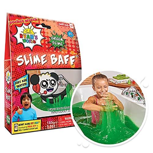 Ryan's World Slime Baff Green von Zimpli Kids, 1 Badepackung, verwandeln Sie Wasser in klebrigen Schleim, Kinder sensorisches und Badespielzeug, Zertifiziert biologisch abbaubares Geschenk