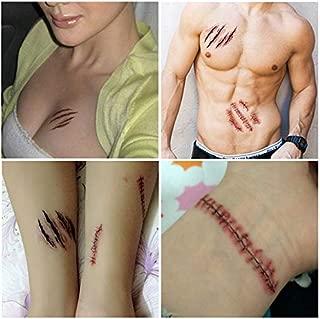 Halloween Dress Up Horror Simulación Etiqueta Engomada Del Tatuaje ...