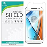 RinoGear Screen Protector for Moto G4 Case Friendly Moto G4 Screen Protector Accessory Full Coverage Clear Film