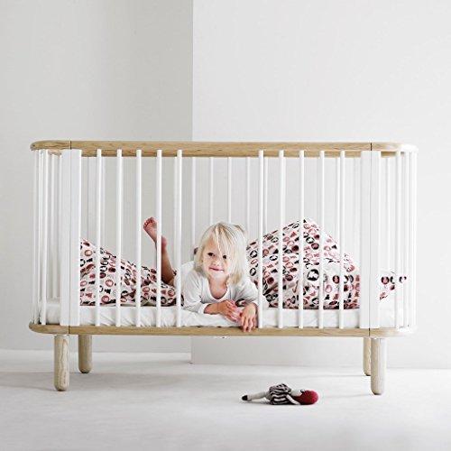 Flexa mitwachsendes Baby- & Kinderbett aus Buchenholz in Weiss, TÜV-geprüft (0-6 Jahre)