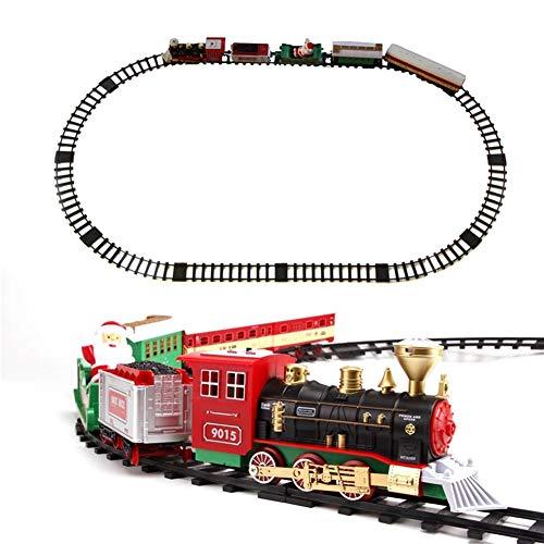ZDSKSH Juego de Trenes navideños a batería con Luces y Sonido Tren...