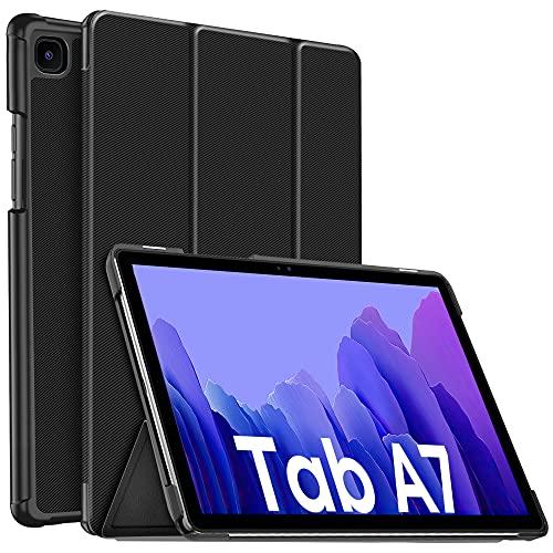 IVSOTEC Hülle für Samsung Galaxy Tab A7, Hochwertiges PU Leder mit Standfunktion, Auto Schlaf/Wach Funktion, Modische & Praktische Schutzhülle für Samsung Galaxy Tab A7 10.4 Zoll 2020, Schwarz