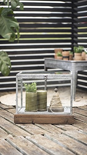 Ib Laursen Set van 2 Hotbed Display Glas Terrarium Trifle Box