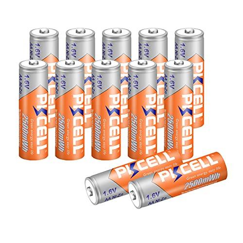 PKCELL batterie AA Ricaricabili NIzn 1.6 Volt 2500 mWh