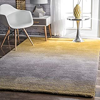 nuLOOM Ombre Shag Rug, 5' x 8', Yellow