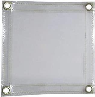 Tillman 6' X 8' 14 mil Clear Transparent Flame Retardant Vinyl Welding Curtain With Grommets Set On 12