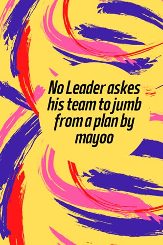No Leader askes his team to jumb from a plan by mayoo: CANTICA FIRST...