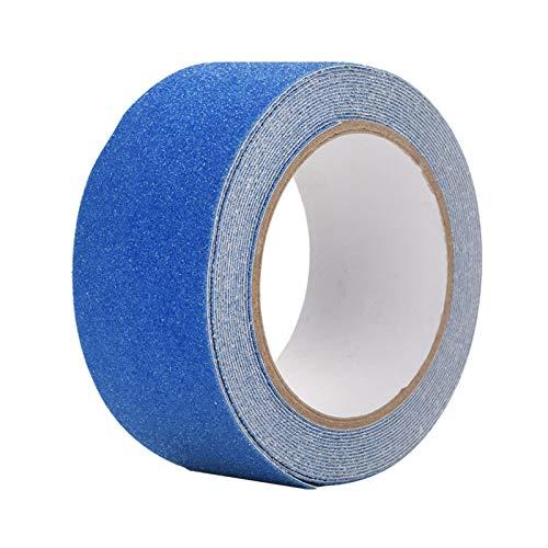 Omabeta Cinta Antideslizante Colorida para el hogar, Edificios de oficinas, hoteles, aeropuertos(Blue)
