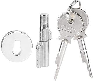 vitrina de cristal sin taladrar con 2 llaves para puerta de cristal de 5 MSleep 8 mm Cerradura de aleaci/ón de cinc