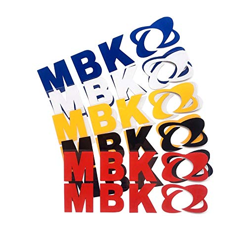 PMSMT 2 unids/Set Pegatina de reacondicionamiento de Motocicleta Personalizada Motocicleta MBK Logo calcomanías Reflectantes Decorativas para Motocicleta MBK