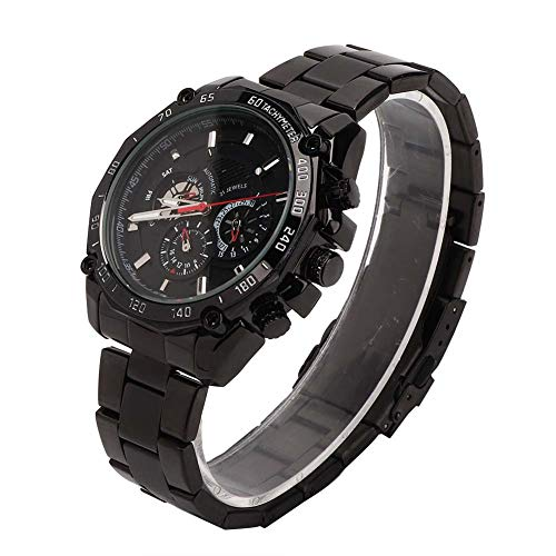 Reloj Reloj de pulsera Reloj mecánico automático 30 M Reloj de pulsera luminoso impermeable para hombre(Negro)