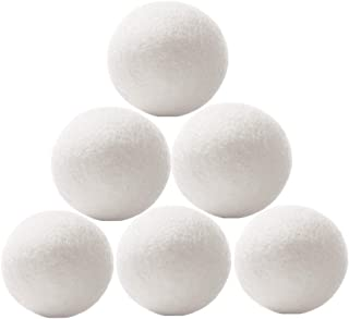 Wool Dryer Balls 6 Pack - XL Premium Reusable Dryer Balls Replace Laundry Drying Natural Fabric Softener