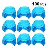 PRETYZOOM 100 Pcs Jetable Chirurgical Gommage Casquettes Unisexe Infirmière Casquette Chapeau Tête Couverture pour Femmes Hommes Médical Service Alimentaire Cuisine Laboratoires
