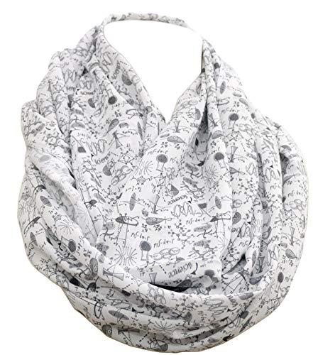 Science Infinity Schal zum Geburtstag, Geschenkidee für Jahrestag, Chemie, Biologie, Wissenschaftler, Schwarz/Weiß