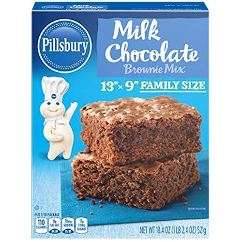 Pillsbury Family Size Milk Chocolate Brownie Mix 184Ounce Pack of 12