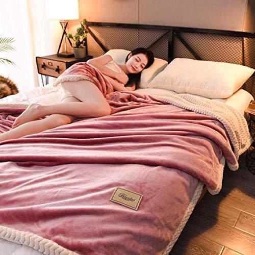 OOFAY Manta de Muselina,Edredón de Manta Doble, Manta de plumón, Manta de Cubierta de Aire Acondicionado de Verano Doble Simple-Pasta de Frijoles_120x200m