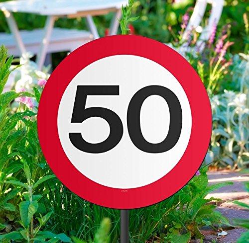 Folat Gartenschild für Geburtstagsparty, Verkehrsschild, 50. Geburtstag