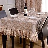 H.aetn Tovaglia da Salotto in Pizzo Europeo/Biancheria per la casa da tavola-A 130 * 180 cm (51x71 Pollici)